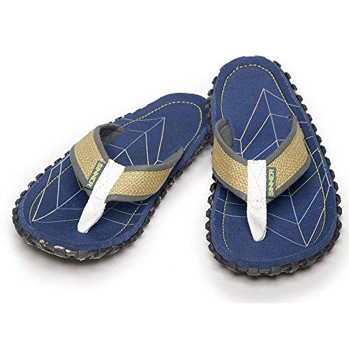 Para Tira NUEVO Dedo 6 12 Caballeros Tallas Sandalia Azul Hombre estilo GB Sandalias azul xqxpHS