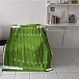 Khaki home Children's Blanket Travel Plush Throw Blanket