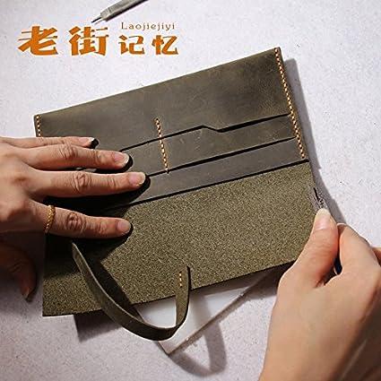 Monedero de cuero Monedero artesanal bolso de cuero simple ...