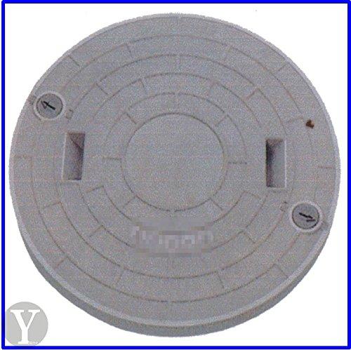 【ノーブランド品】FRP製 浄化槽用マンホールフタ ロック付 グレー 耐荷重 4t 【表示規格Φ500-1000k】  B01MRBB2LU