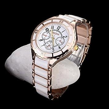WZFCSAEAE Rose Gold Watch Relojes Mujer Completa de Acero para Mujer Relojes para Mujer Reloj Ladies