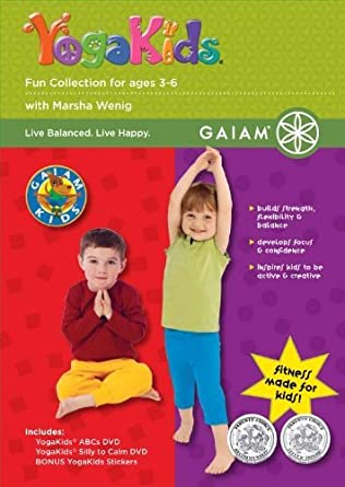 Amazon.com: Yoga Kids - Fun Collection for Ages 3-6 [DVD ...