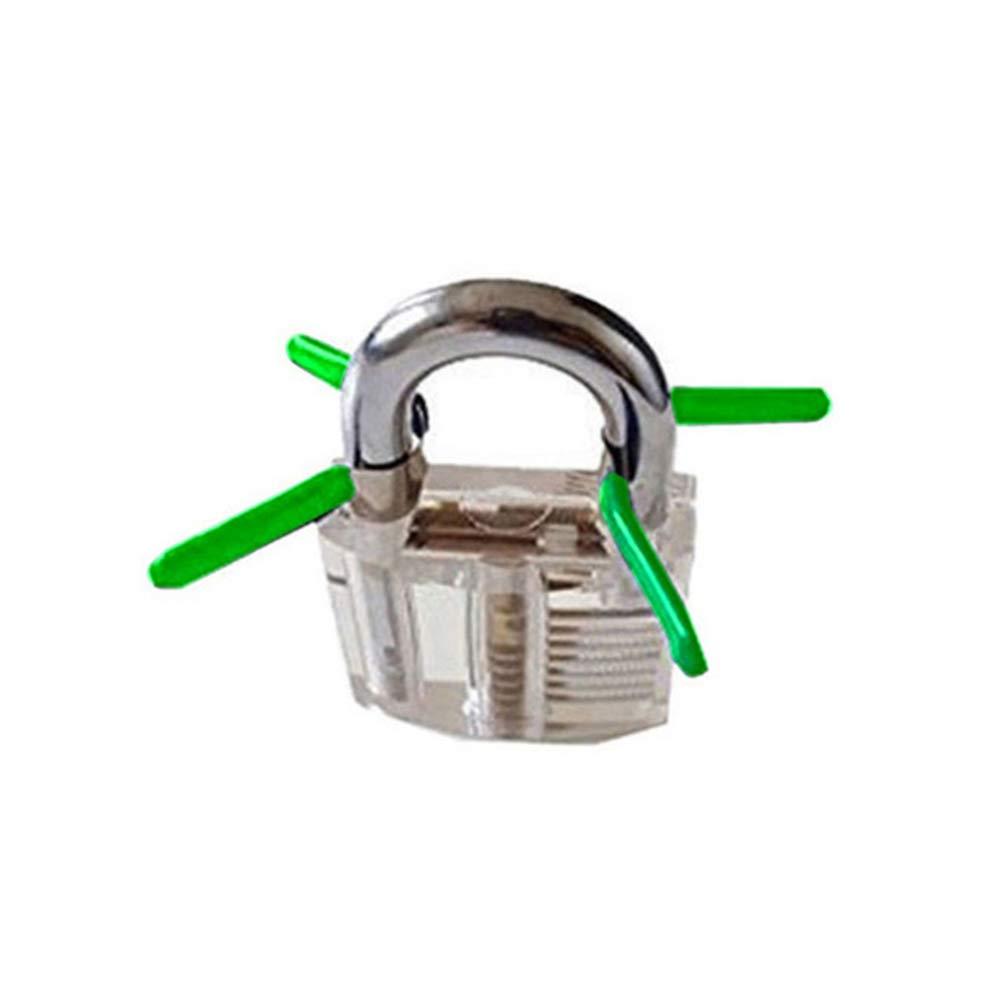 Loboo Idea Juego de candado de pr/áctica transparente y 6 piezas de candado para cerrajer/ía cerrajeros principiantes y profesionales