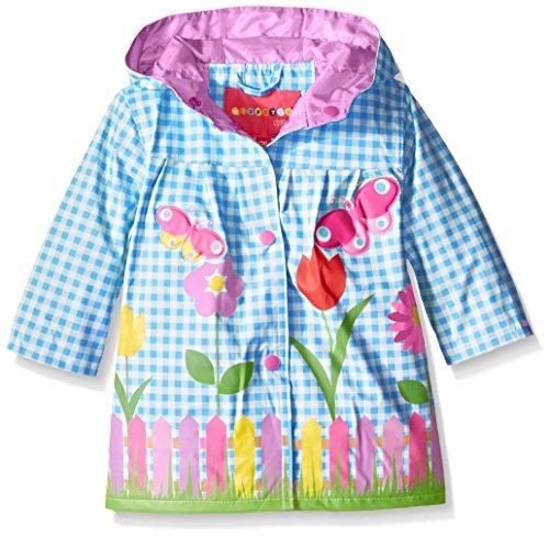 Wippette Baby Girls' Lovely Garden Rainwear, Blue, 24 Months