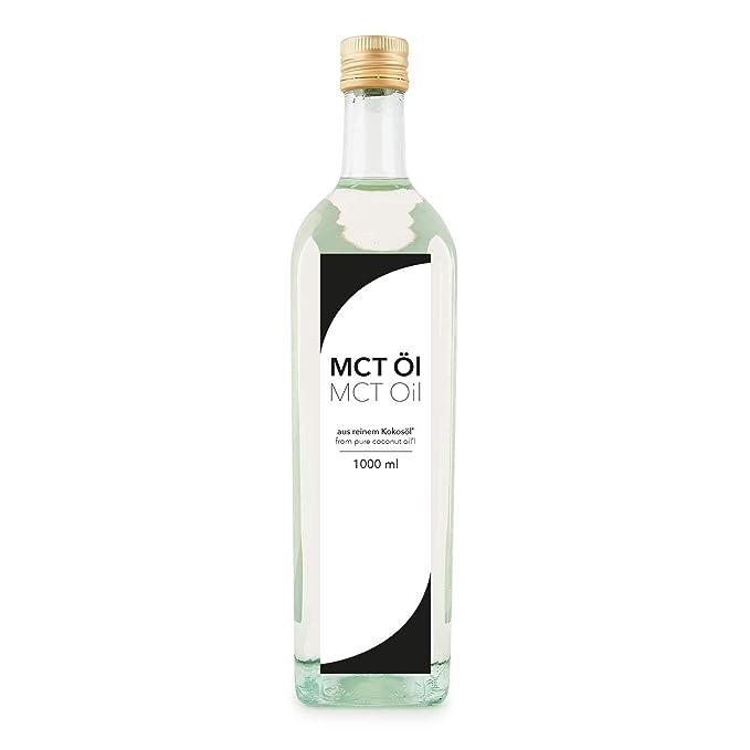 Aceite Detoxfy MCT, calidad premium (6 veces más fuerte que el aceite de coco - sabor neutro), 1 paquete (1 x 1000 ml) en una práctica botella de ...