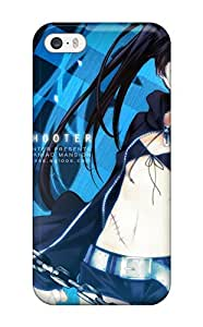 New Diy Design Black Rock Shooter For Iphone 5/5s Cases Comfortable For Lovers And Friends For Christmas Gifts