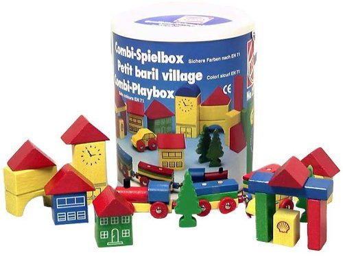 "Heros Wooden Stacking Blocks 32 Piece Set ""Little Town"""