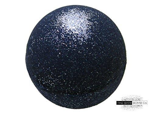 Black Bath Bomb with Silver Glitter  Large Bath Bomb 57oz  AntiAging  Epsom Salts  Coconut Oil  Kaolin Clay  Skin Moisturizers  Aromatherapy Bath  Add to Bubble Bath Soul Cleanser w/ Silver