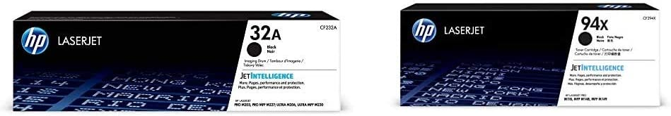 HP 32A | CF232A | Toner Cartridge | Black Drum & 94X | CF294X | Toner Cartridge | Black | High Yield