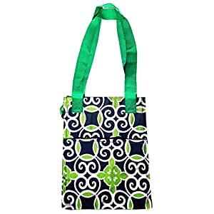 New Navy Green Swirls Insulated Thermal Unisex Lunch Box Back To School Kit Messenger Bag Supplies Travel Essentials Top Unique Dorm Items Fun Birthday Popular Gifts for Boy Kid Girl Youth Teacher