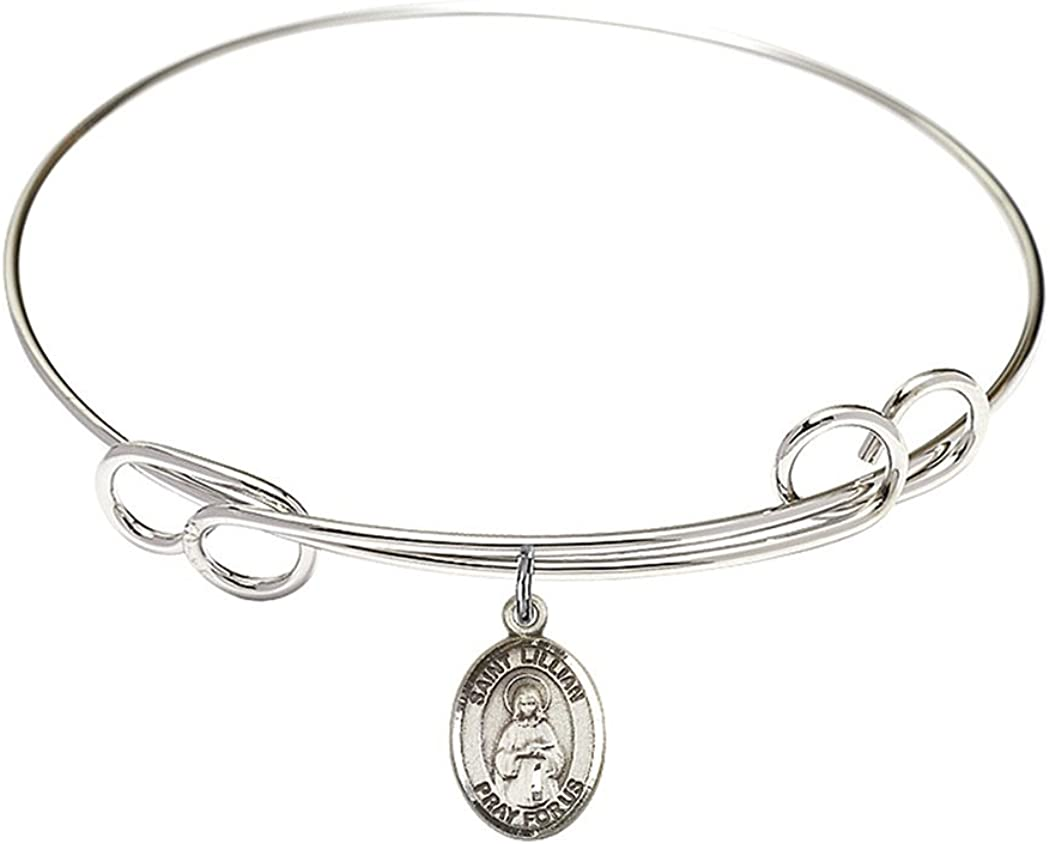Petronille Charm On A 7 Inch Oval Eye Hook Bangle Bracelet St