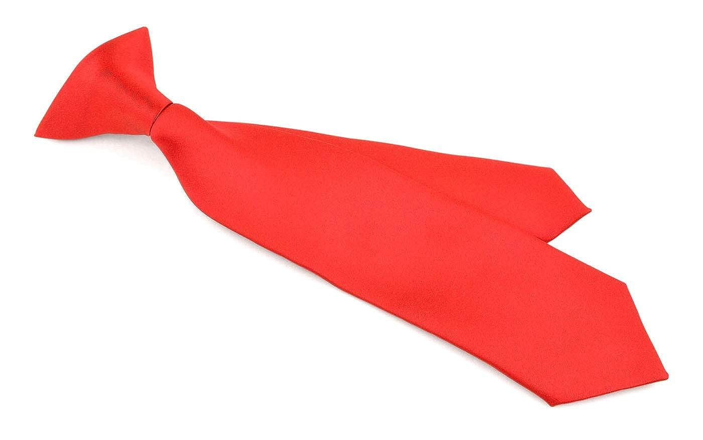 Many Colors Boys NeckTie Solid Color Clipon Polyester Tie Moda Di Raza