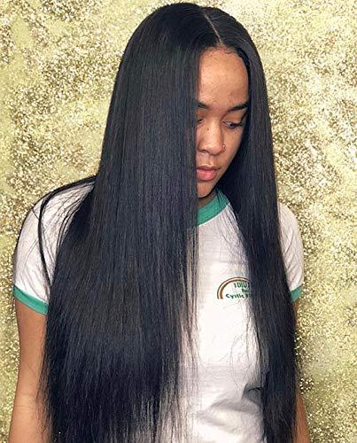 JiSheng Brazilian Straight Virgin Hair 4 Bundle 10A Unprocessed Human Hair Extensions 16 18 20 22 inch ()