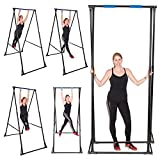 Portable Pull Up Bar Stand KT1.1518, Foldable Exercise Machine For Sciatica Pain Relief, Treat Herniated Disc, Height Adjustable, Very Sturdy Fitness Equipment, Light & Durable Gym Bar