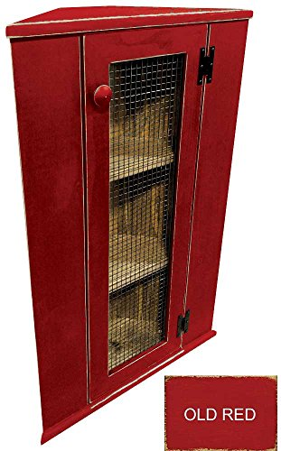 Sawdust City Top Corner Cabinet (Old Red)