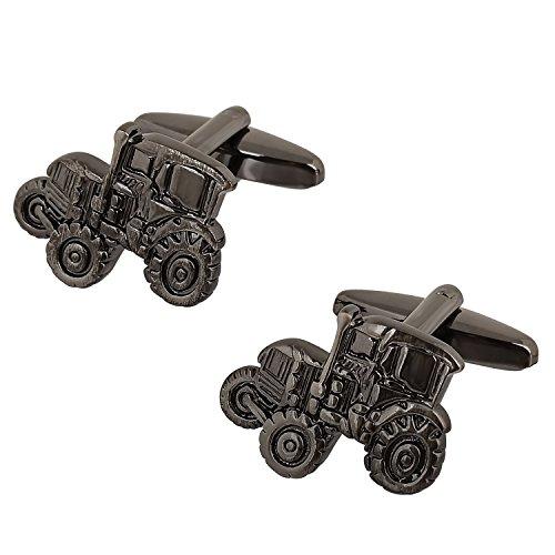 Gunmetal Farmers Tractors Cufflinks ()