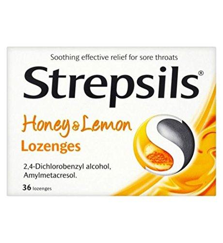 (Strepsils Honey & Lemon 36 Lozenges)