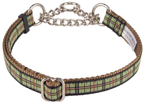 (Preppy Puppy Plaid Woven Ribbon Half Check Collar Limited Edition-Small)