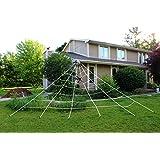 JOYIN 23X18 ft Triangular Mega Spider Web for Outdoor Halloween Decoration