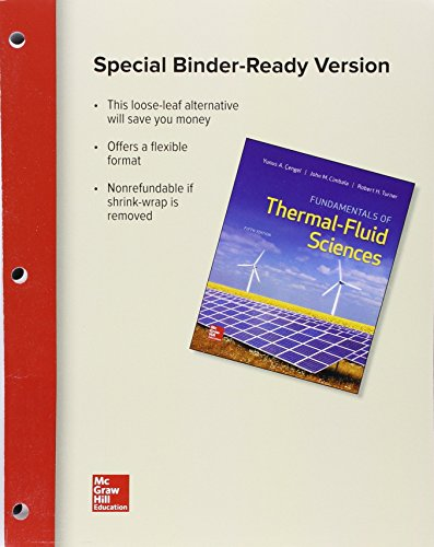 Loose Leaf for Fundamentals of Thermal-Fluid Sciences
