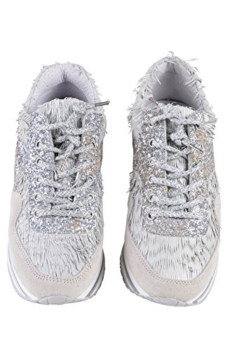 Women's Textile Shoes 41 Beige 2Star Silver Sneaker Gold White Punch Lime v8EZwqwx