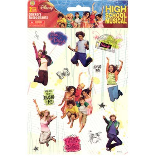 Disney High School Musical Sticker Large Two-Sheet Pack