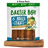"Baxter Boy 6"" Premium Grade Odor Free Bully Sticks Dog Treats Jumbo Thick (6 Pack) – 6 Inch Fresh Natural Gourmet Chews – 60% Longer Lasting For Sale"