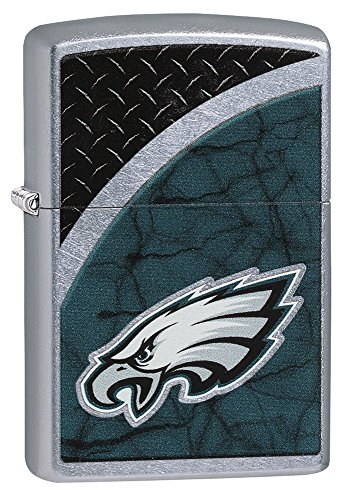 Zippo NFL Philadelphia Eagles Street Chrome Pocket Lighter ()
