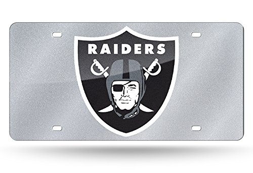NFL Oakland Raiders Bling Laser Cut Auto Tag Plate, 12 x 6-Inch, ()