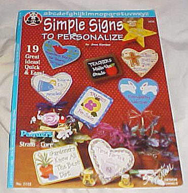 Simple Signs To Personalize By Suzanne McNeill Design Originals (No. 1112) Craft Book 1996