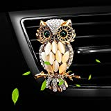 owl air freshener for car - Air Freshener Car Perfume Cute Owl Diamond Car Aromatherapy Essential Oil Diffuser Locket with Vent Clip and Best Car Perfumes Best Home Decoration Car Decoration , AMind (Owl No.1)