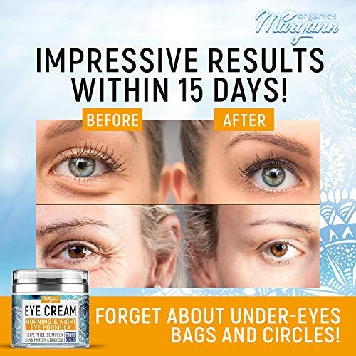 51Dozx3Q6DL - MARYANN Organics Eye Cream - Natural Formula with Hyaluronic Acid, Vitamin E & Aloe Vera - Made in USA - Anti Aging Cream for Women - Reduce Dark Circles, Puffiness, Under Eye Bags, Wrinkles - 1,7 OZ
