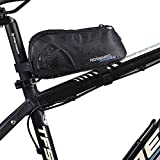 FlexDin Energy Bicycle Frame Bag, MTB/Road Bike Front/Back Top Tube Cycling Fuel Bag Pannier Waterproof 1680D 0.9L Black