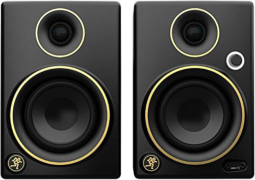 Mackie CR3 Limited Edition Gold Trim 3 in. Multimedia Monitors - Dome Headset