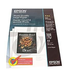 Epson Photo Quality Ink Jet Paper - Papel para impresora de tinta (A4), blanco