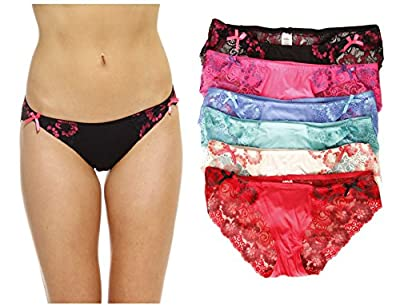 Just Intimates Bikini Underwear / Panties for Women (Pack of 6)
