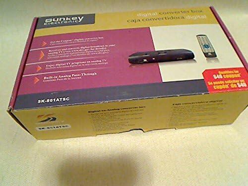 Sunkey SK-801ATSC Digital Converter Box with Analog Pass Through Feature