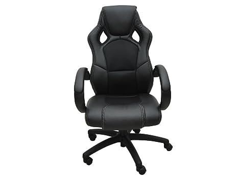 Sedie Da Ufficio In Pelle : Varan motors sedile barilotto sedia da ufficio nero tessuto e pelle