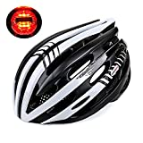 KINGBIKE-LiLine-Bike-Helmet-with-LED-Safety-Rear-Light-27-VentsLatch-Fastener-Control-Ultralight-Dual-Fit-Adjustable-for-Adult-UnisexYouth