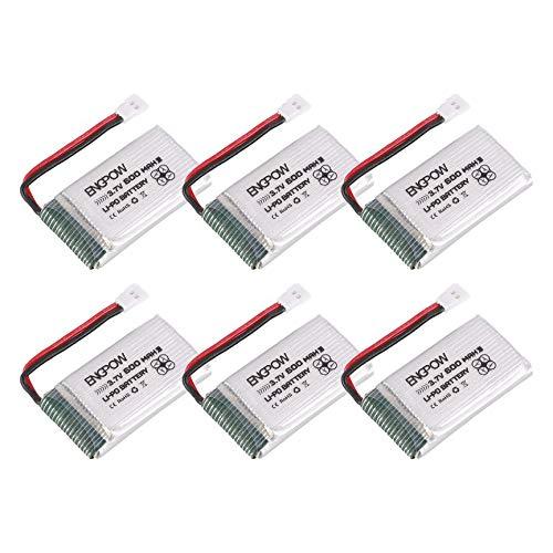 Peanutaso 6PCS Engpow 3.7V 600mAh 1S Batería de lipo Recargable ...