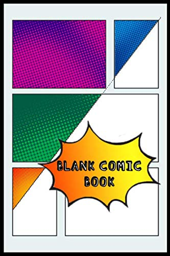 - Blank Comic Book: Empty comic sketch book with 100 different page panel layouts | A unique template for each page