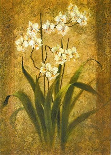 Oil Painting 'Orchid Study By Tan Chun', 16 x 22 inch / 41 x 57 cm , on High Definition HD canvas prints is for Gifts And Kitchen, Powder Room - Loop Eyeglasses Chicago