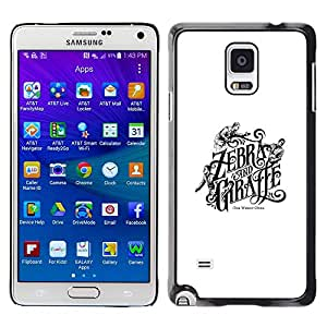 A-type Colorful Printed Hard Protective Back Case Cover Shell Skin for Samsung Galaxy Note 4 IV / SM-N910F / SM-N910K / SM-N910C / SM-N910W8 / SM-N910U / SM-N910G ( Zebra Giraffe Book Cover White Black )