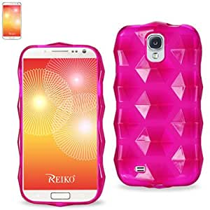 Reiko PSC16-SAMS4HPK Polymer Case Hexagon Pattern for Samsung Galaxy S4 - Retail Packaging - Hot Pink