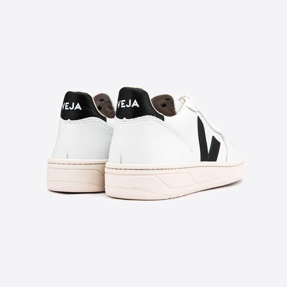 VEJA - VXM020005 - Sneaker DA UOMO Modello V10 Leather Extra White Black: Amazon.es: Zapatos y complementos