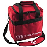 Vise 1 Ball Tote Red Bowling Bag by Vise