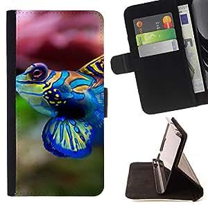 Momo Phone Case / Flip Funda de Cuero Case Cover - Enfriar Neon Coral Fish - Samsung Galaxy J3 GSM-J300