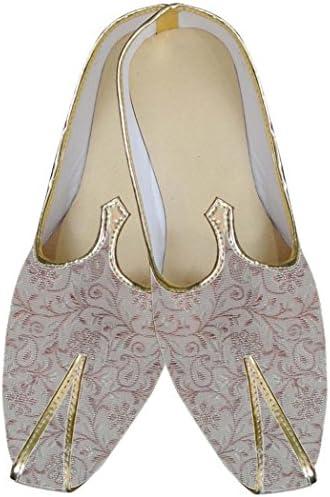 INMONARCH Traditional/Shoes for Men Blue Indian Wedding Shoe Groom Juti MJ0013