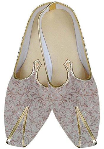 Inmonarch Mens Crème Indienne Chaussures De Mariage Mj0063