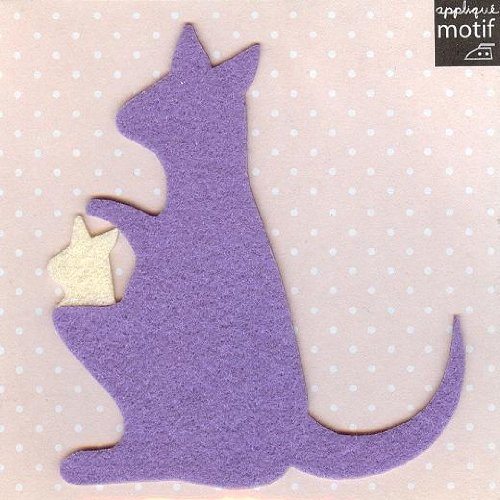Kangaroo Design Iron on Applique (patch size:4